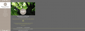 Mages & Price's old homepage