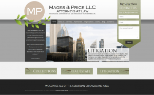 Mages & Price's new homepage by Design & Promote