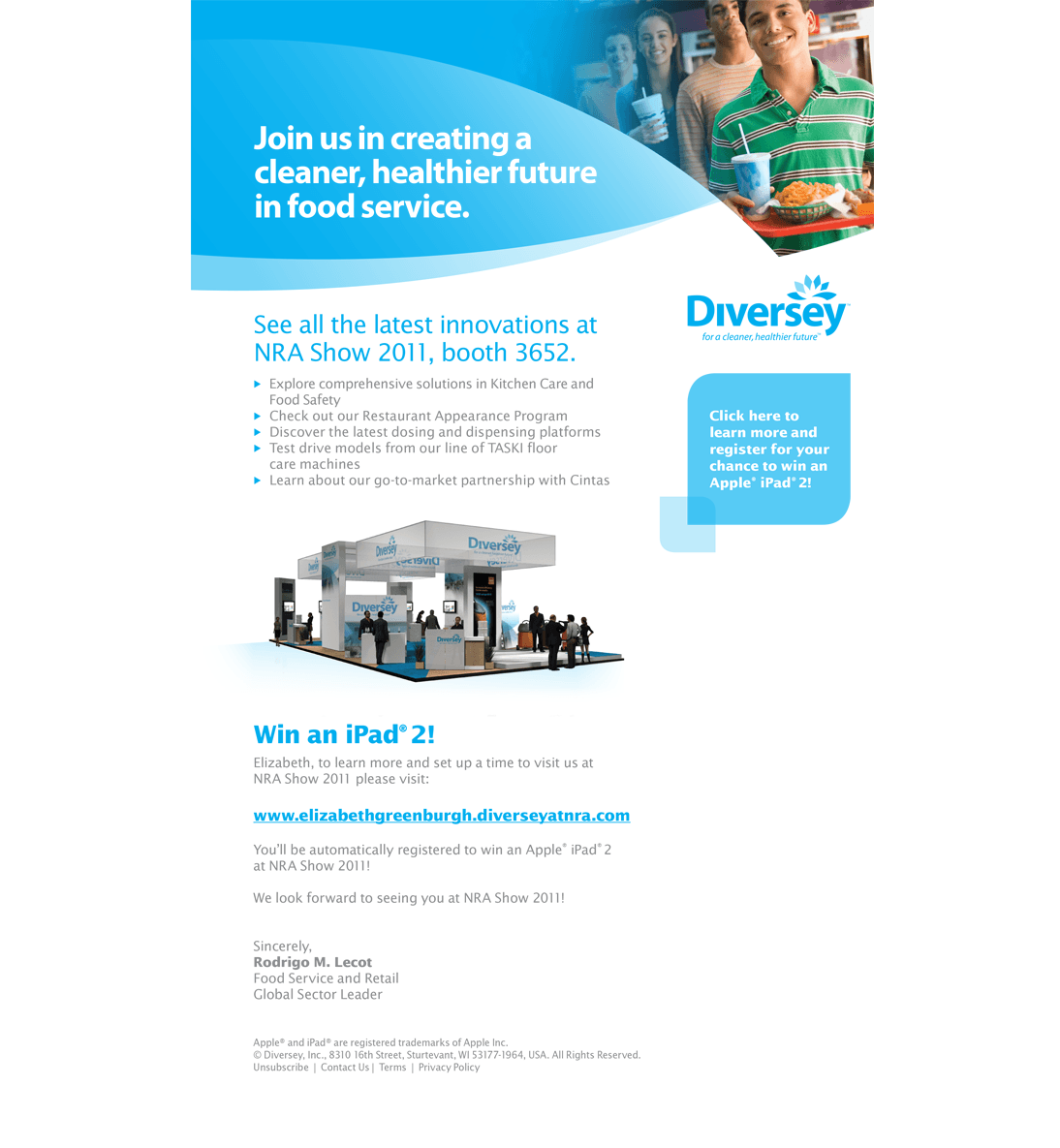 email marketing, diversey-email-newsletter-setup