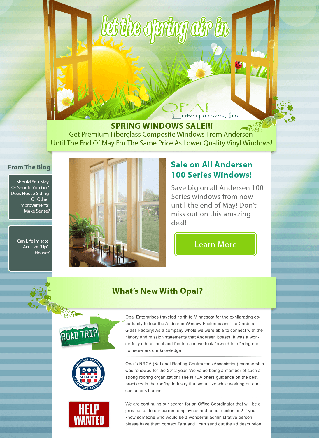 opal-spring-newsletter-design